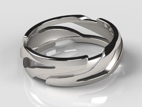 Xeno Ring in Polished Silver: 10 / 61.5
