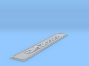 Nameplate HMS Hesperus (10 cm) in Smoothest Fine Detail Plastic