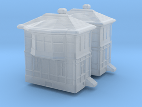 Railway Signal Tower (x2) 1/500 in Smooth Fine Detail Plastic