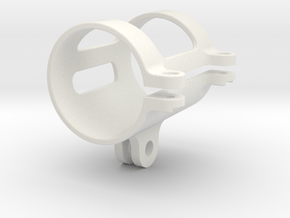 Flashlight GoPro Mount 31mm in White Natural Versatile Plastic