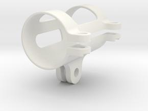 Flashlight GoPro Mount 1in in White Natural Versatile Plastic