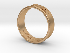 R and A ring Size 9 in Natural Bronze
