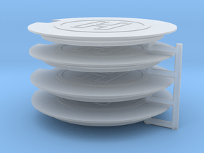 Helipad (x4) 1/400 in Smooth Fine Detail Plastic