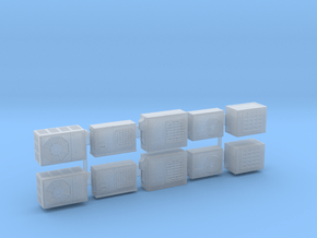 10 x 1:72 Scale Air Conditioners in Smooth Fine Detail Plastic