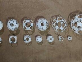 Archimedean Solids (Checkerboard) in White Natural Versatile Plastic