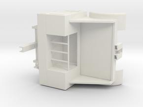 1/25th Mobile Home Toter Body in White Natural Versatile Plastic