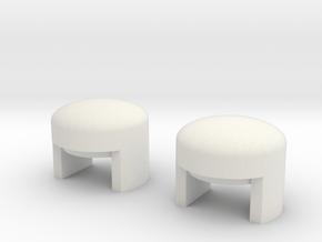 Pach Store Zetsu Buttons in White Natural Versatile Plastic