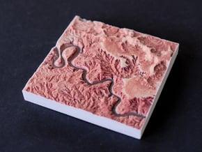 Canyonlands NP, Utah, USA, 1:100000 Explorer in Natural Full Color Sandstone