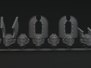 10-20x Dark Angels Mega variety Helmets in Smooth Fine Detail Plastic: Medium