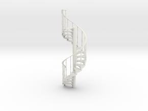 s-16-spiral-stairs-17-step-lh-2a in White Natural Versatile Plastic