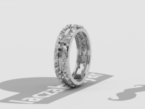 Halo Ring 5mm wide in Polished Silver: 5.5 / 50.25