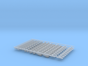 Laser Pro 3bu Small Pieces (18) in Smooth Fine Detail Plastic