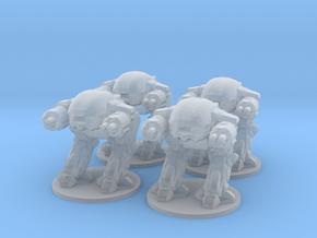 ED209 mech 6mm Infantry miniature models set Epic in Smooth Fine Detail Plastic