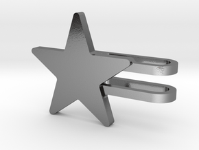 Star Watch Charm in Polished Silver