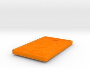 world-card-2in-INCH- in Orange Processed Versatile Plastic