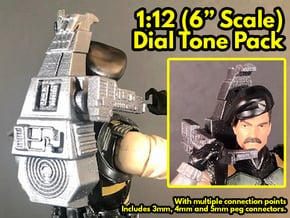 Dial-Tone Pack, 1:12 Scale in White Natural Versatile Plastic