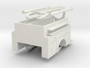 1/87 80's Style Engine Body medium height compartm in White Natural Versatile Plastic