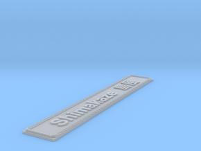Nameplate Shimakaze 島風 (10 cm) in Smoothest Fine Detail Plastic