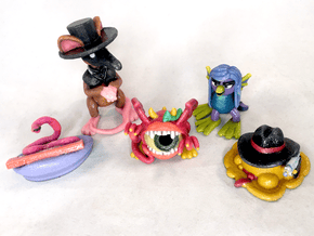 2 Inch Monsters: Batch 18 in Glossy Full Color Sandstone