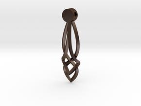 Celtic Drop Pendant Design  in Polished Bronze Steel