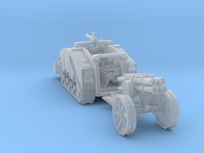 Light Artillery tractor crew and Gun 2 in Smooth Fine Detail Plastic