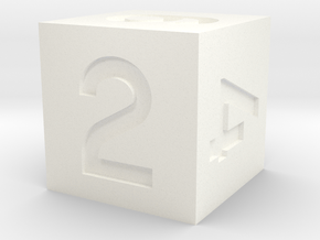 Standard d6 in White Processed Versatile Plastic