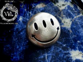 Transmetro HAPPY FACE Pendant ⛧ VIL ⛧ in Polished Bronzed-Silver Steel