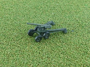French 155mm GPF-T Gun 1/285 6mm in Smooth Fine Detail Plastic
