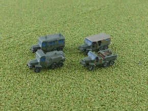 French Laffly S20TL Truck Variants 1/285 in Smooth Fine Detail Plastic