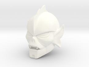 Hordeleader Head in White Processed Versatile Plastic