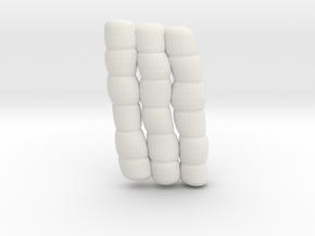 1/30 IJN Akagi Tower Futons SET 19 in White Natural Versatile Plastic