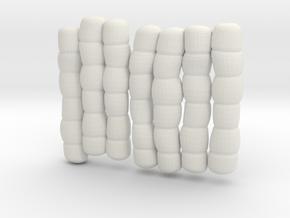 1/30 IJN Akagi Tower Futons SET 18 in White Natural Versatile Plastic