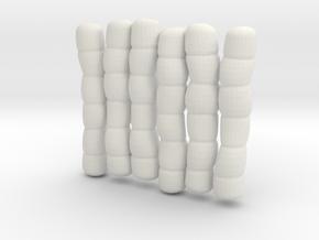 1/30 IJN Akagi Tower Futons SET 15 in White Natural Versatile Plastic