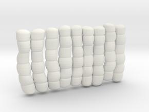 1/30 IJN Akagi Tower Futons SET 12 in White Natural Versatile Plastic