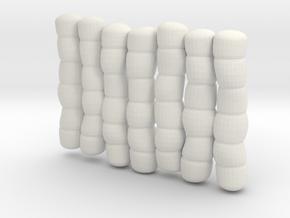 1/30 IJN Akagi Tower Futons SET 11 in White Natural Versatile Plastic