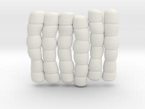 1/30 IJN Akagi Tower Futons SET 7 in White Natural Versatile Plastic
