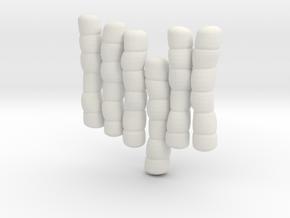 1/30 IJN Akagi Tower Futons SET 6 in White Natural Versatile Plastic