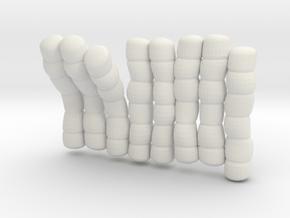 1/30 IJN Akagi Tower Futons SET 8 in White Natural Versatile Plastic