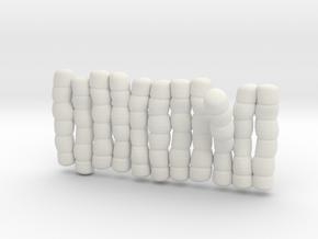 1/30 IJN Akagi Tower Futons SET 4 in White Natural Versatile Plastic
