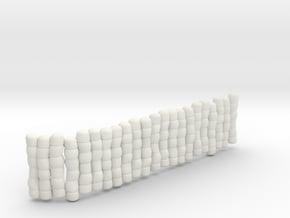 1/30 IJN Akagi Tower Futons SET 3 in White Natural Versatile Plastic