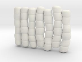 1/30 IJN Akagi Tower Futons SET 5 in White Natural Versatile Plastic