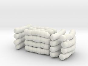 1/30 IJN Akagi Tower Futons SET 2 in White Natural Versatile Plastic