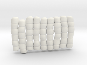 1/30 IJN Akagi Tower Futons SET 10 in White Natural Versatile Plastic