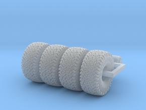 1/64 44-18.5R15 MT Baja Belt tires & rims  in Smooth Fine Detail Plastic