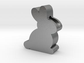 Bunny Rabbit Pendant in Natural Silver