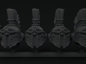 10-20x Spartan Plume Helmets in Smooth Fine Detail Plastic: Medium