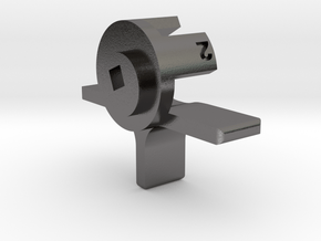 Erika Model 6 line spacing lever in Polished Nickel Steel