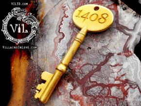 1408 Poster KEY⛧ VIL ⛧ in Polished Gold Steel