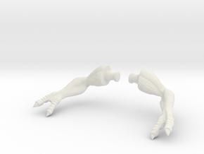 Kenner Electronic T-Rex Arm Set Original T pose in White Natural Versatile Plastic