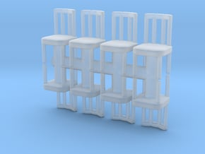 Antique Chair (x8) 1/72 in Smooth Fine Detail Plastic